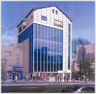 고등 푸르지오자이 단지출입구 인근 신축건물 임대